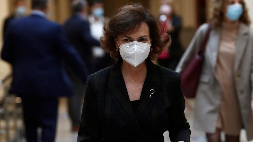 Calvo urge a impulsar la agenda de la igualdad frente a parón por la pandemia