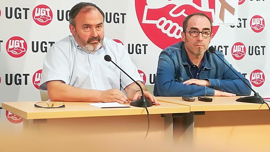 Carlos Pedrosa (UGT) y Paco de la Rosa (CCOO) FOTO: UGT CLM