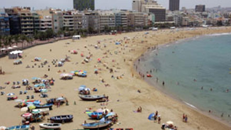 La zona de La Puntilla, en la playa de Las Canteras de la capital grancanaria.(CANARIAS AHORA)