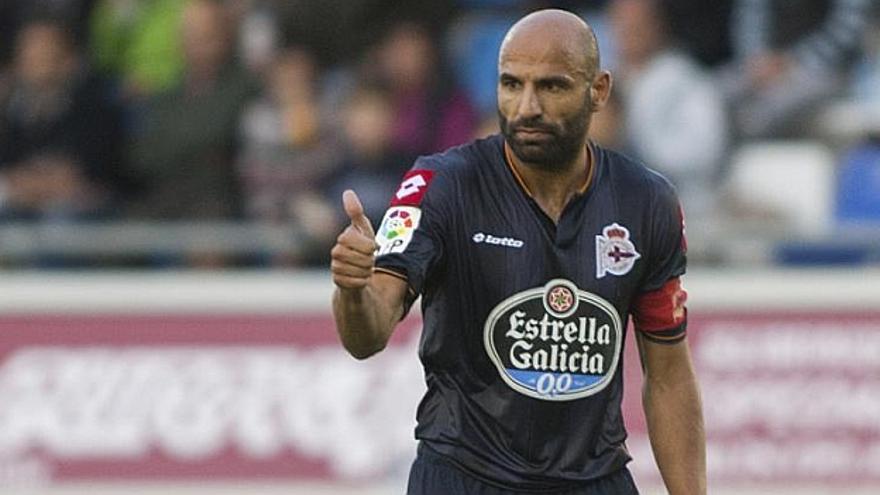 El jugador del Deportivo de La Coruña, Manuel Pablo. (Efe).