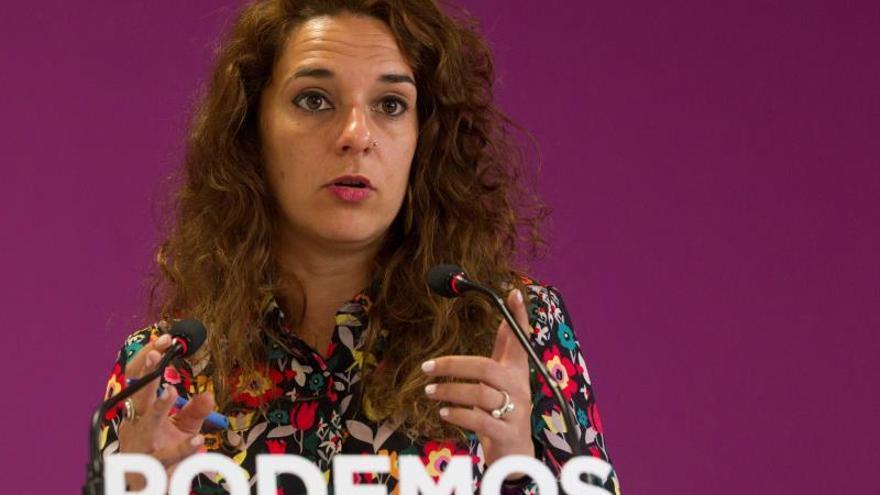 La portavoz de Podemos, Noelia Vera, en una imagen de archivo.