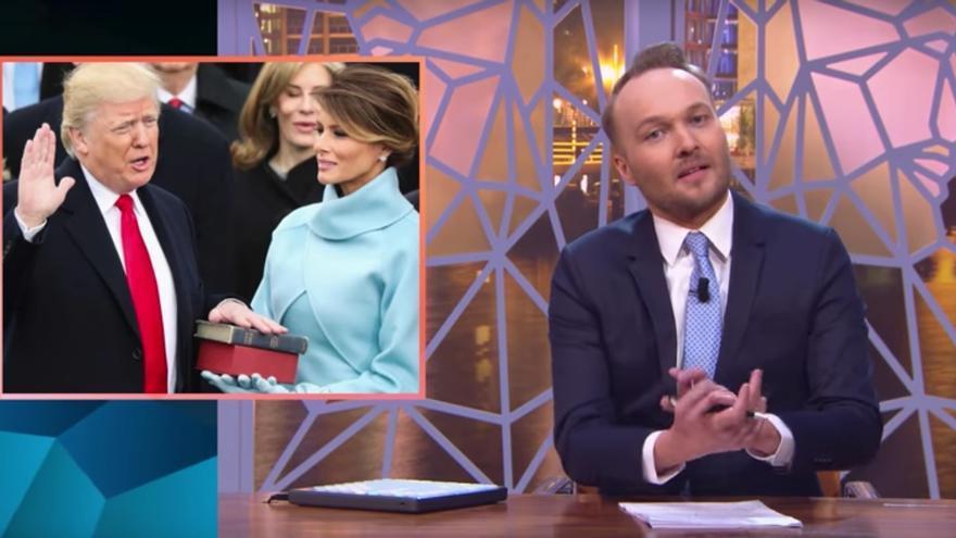 Parodia en un programa de la televisión holandesa sobre Trump.
