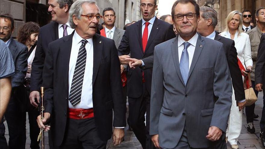 Xavier Trias junto a Artur Mas en la festividad en honor de la patrona de Barcelona.