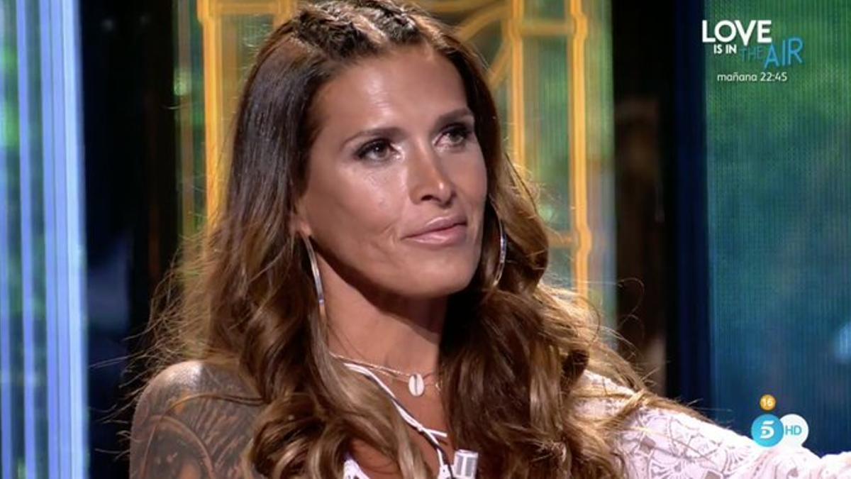 Lara Sajen, en el plató de 'Supervivientes 2021'