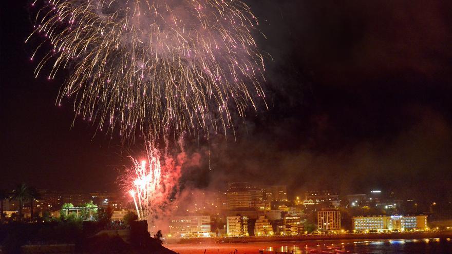 Fuegos artificiales en Santander.