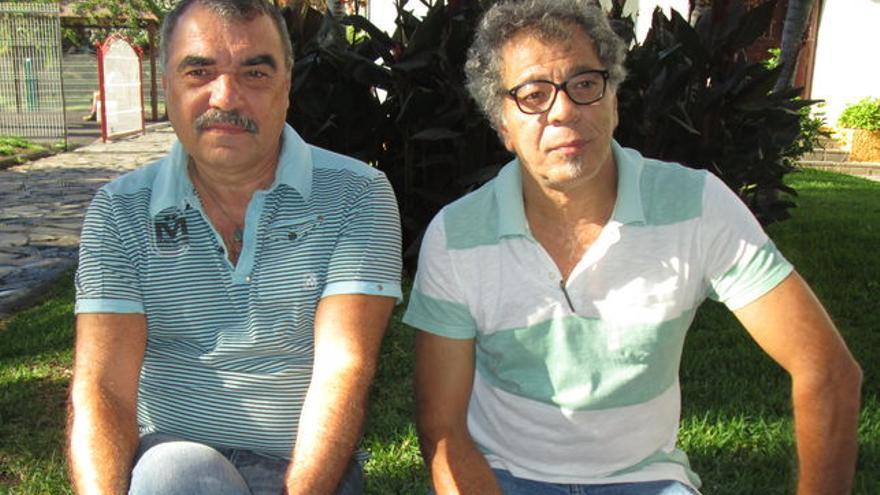 Los investigadores Manuel Lorenzo (i) y Manuel Garrido. Foto: LUZ RODRÍGUEZ.