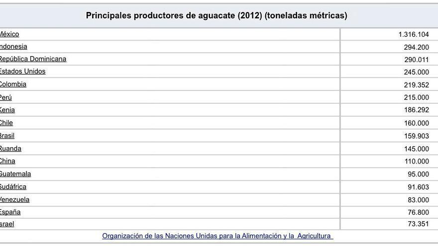 Principales productores de aguacate