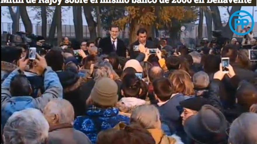 Mariano Rajoy, en un acto en Benavente (León).