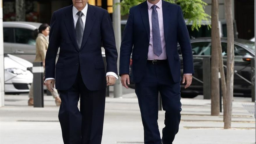 Villar Mir a su llegada a la Audiencia Nacional para declarar por el caso Lezo.