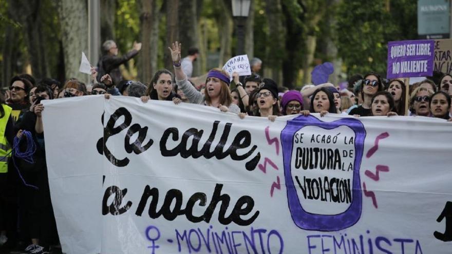 Concentración en Madrid contra la sentencia a la manada. OLMO CALVO.