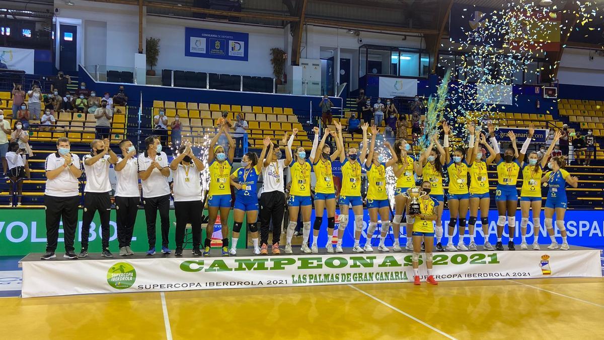 El Ibsa, celebrando su triunfo en la Supercopa