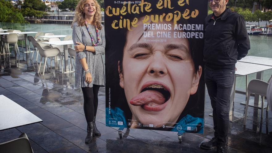 Isabel Ojeda, directora de Cultura del Ayuntamiento de Sevilla, y José Luis Cienfuegos, director del Festival de Cine
