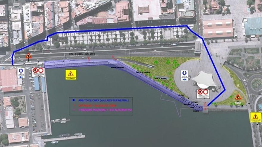 Obras del Frente Marítimo en Las Palmas de Gran Canaria