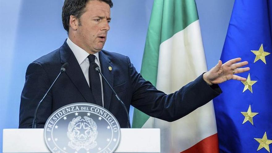 Renzi se muestra contrario a aplicar sanciones a Portugal y España