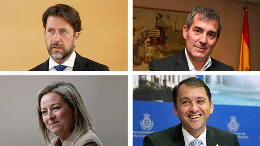 Carlos Alonso, Fernando Clavijo, Ana Oramas y José Manuel Bermúdez