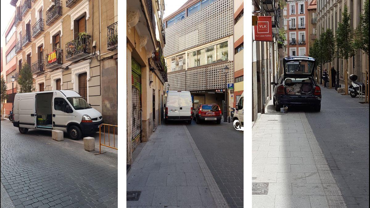 Ejemplos de malos estacionamientos en la calle Santa Brígida | TW: @patrisc72