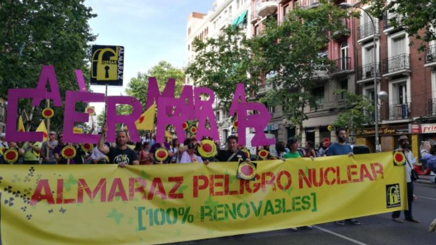 Manifestación en Madrid contra la energía nuclear
