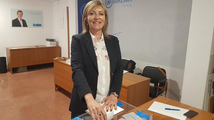 La concejala del PP en Alcoi Amalia Payà