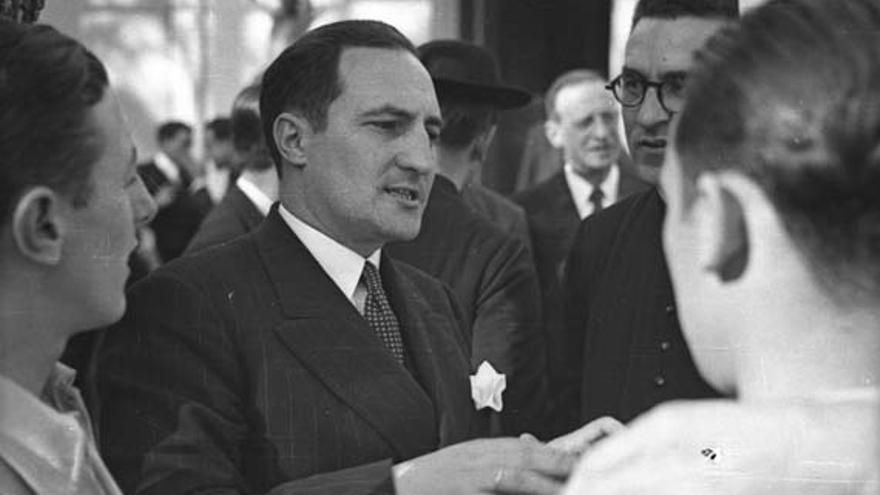 El lehendakari Aguirre en el exilio francés (abril de 1939). Foto: Wikipedia