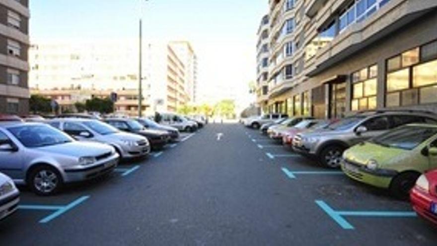 Zona verde aparcamientos vecinos distrito centro las palmas de gran canaria