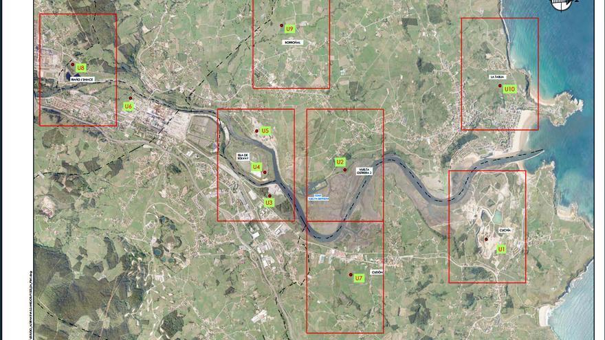 Propuesta para los emplazamientos de la nueva EDAR que sustituirá a Vuelta Ostrera.