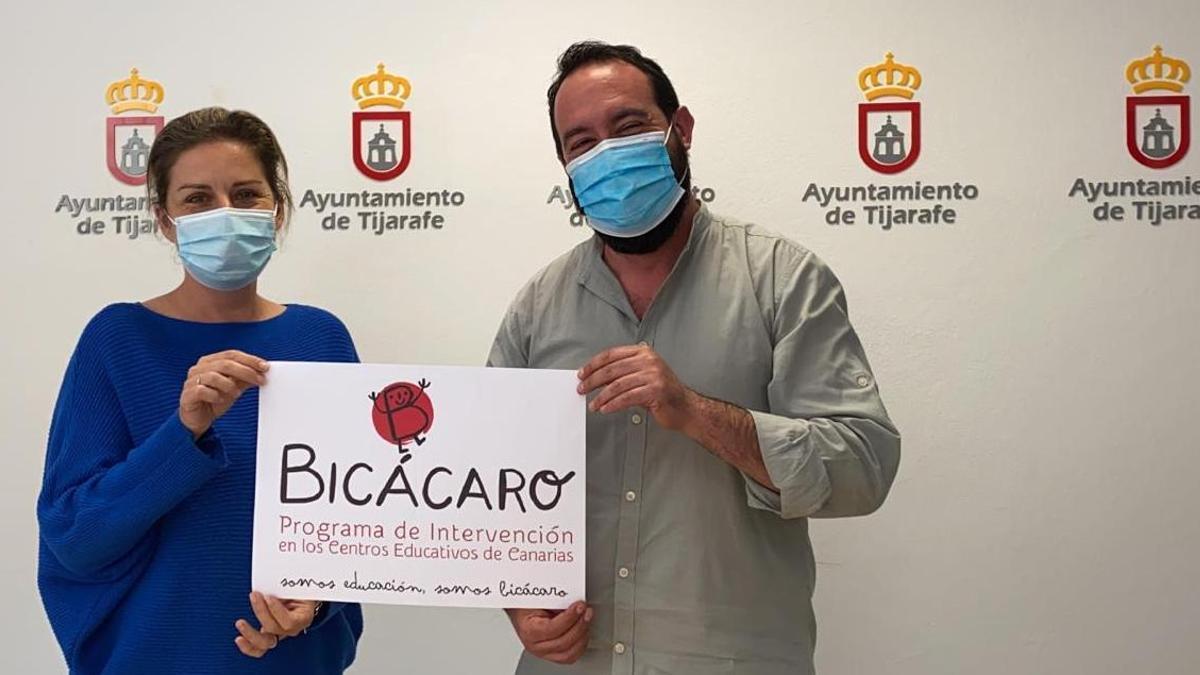 Yaiza Cáceres y Marcos Lorenzo.