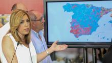 Dos tercios de los votos que ha perdido el PSOE han sido en Andalucía
