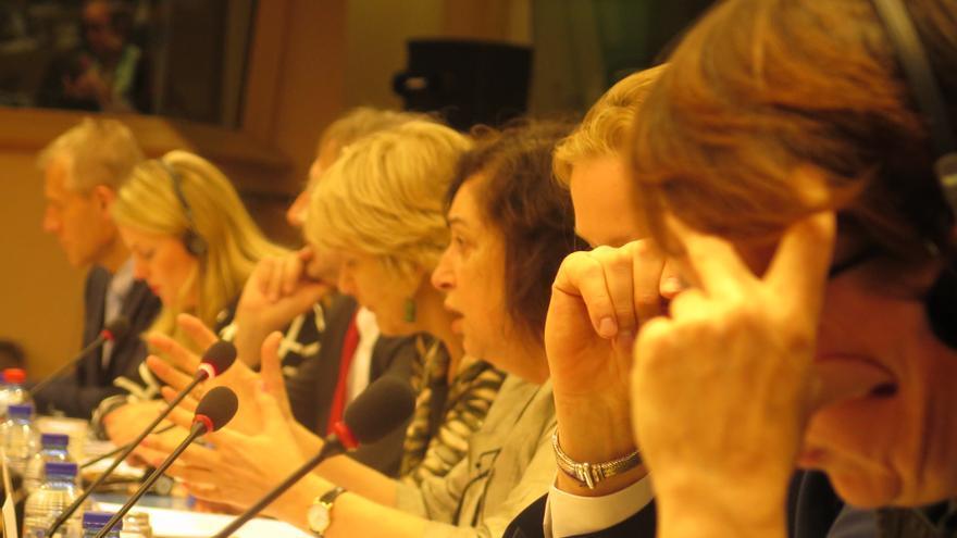 Europarlamentarios en el debate final del seminario FOTO: MARIANA VILNITZKY