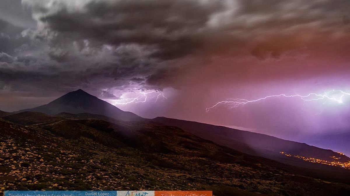 Rayos caídos en Izaña, Tenerife, en una imagen de archivo