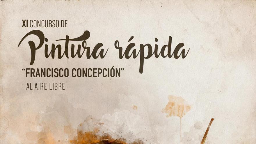 Cartel del 'Concurso de pintura rápida Francisco Concepción'.