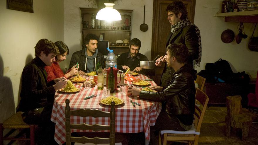 El grupo Dorian durante un descanso en la grabación del disco 'Diez años y un día' // Rafa Ariño