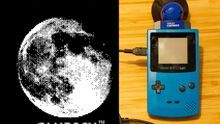 Una imagen de la Luna captada a través de la Game Boy Camera