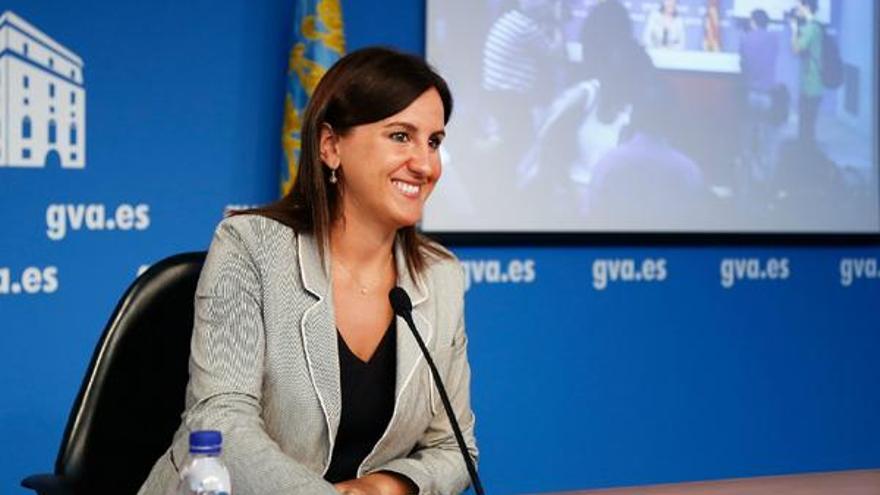 María José Catalá, en una rueda de prensa del Consell.