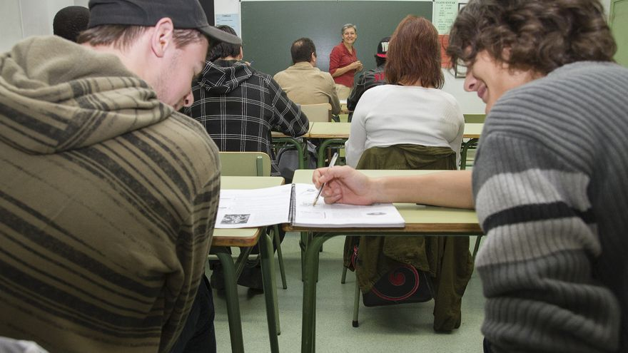 Los alumnos de Paulo Freire durante una clase.