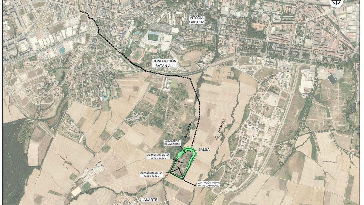 Mapa aportado por URA sobre el proyecto