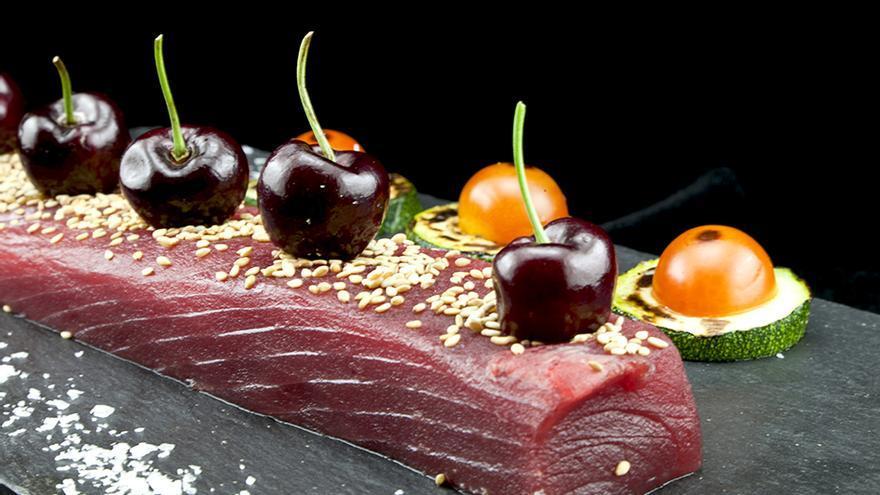 Tataki de atún en Ciquitrake.