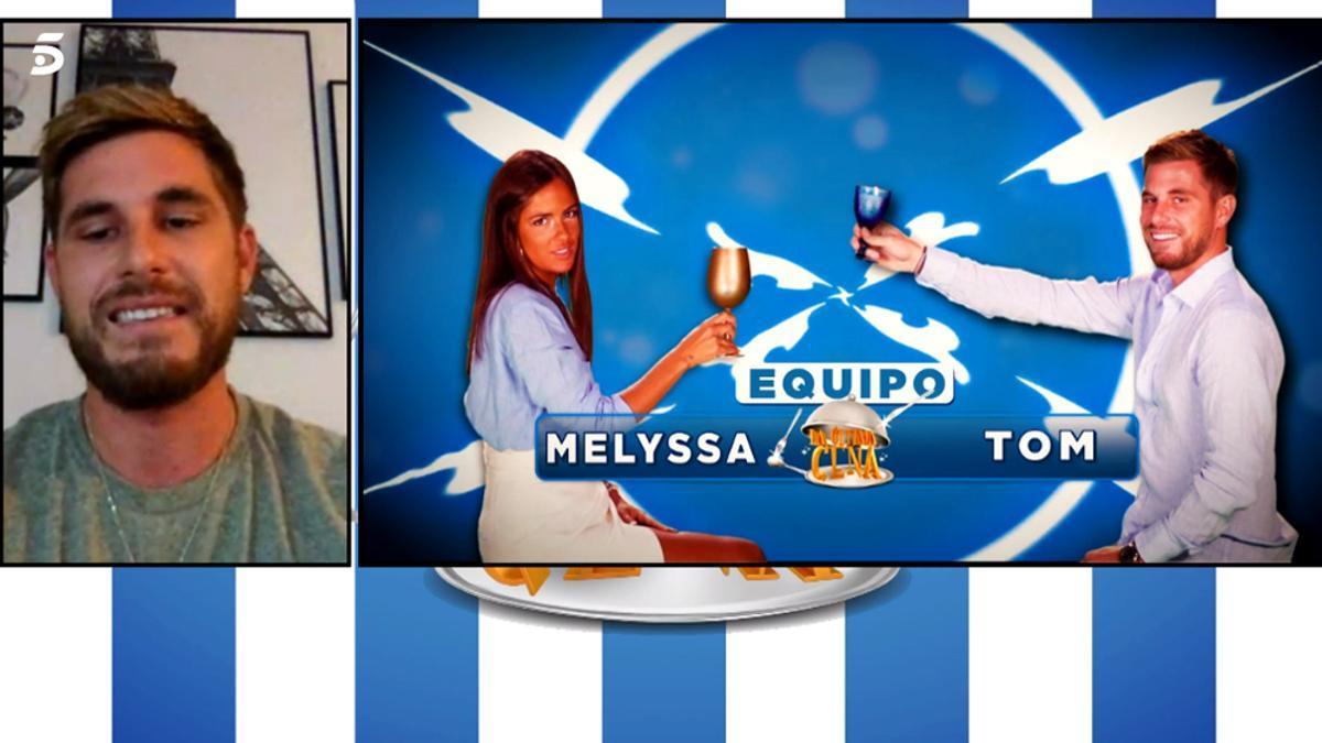 Melyssa Pinto y Tom Brusse, ahora a cocinar juntos en 'La última cena' de Telecinco - Vertele