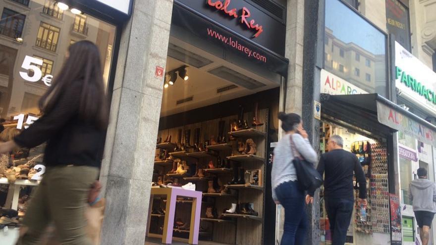 Establecimiento de Lola Rey en la calle Gran Vía de Madrid.