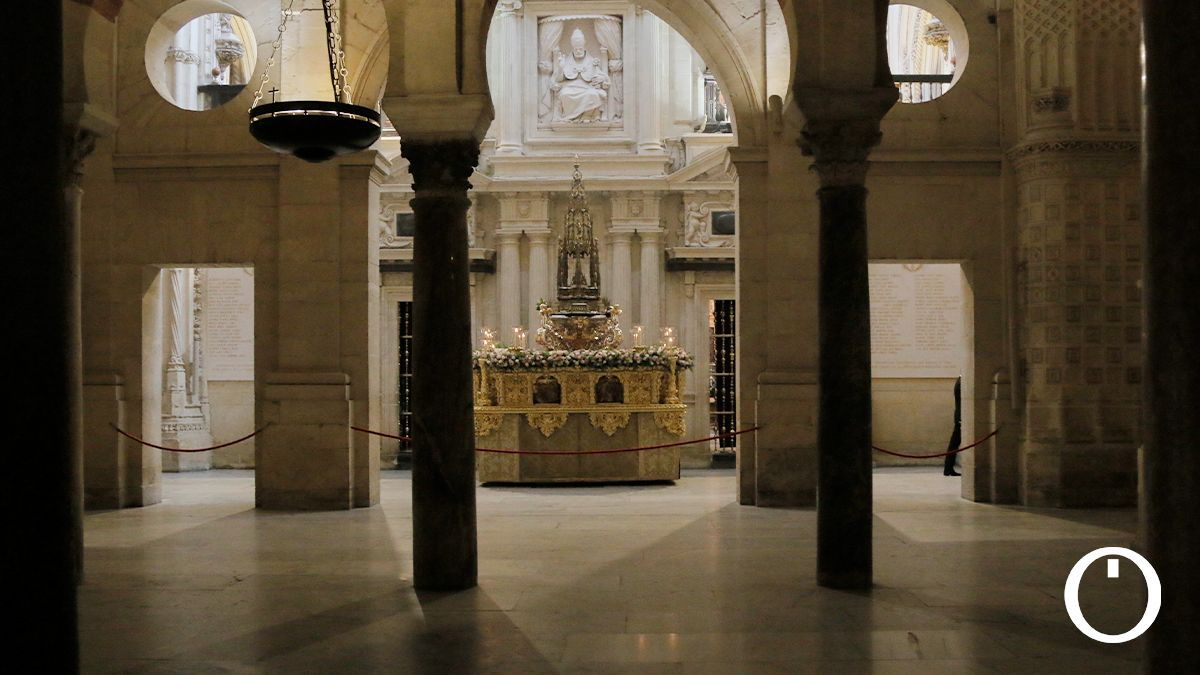 Procesión del Corpus en el interior de la Mezquita-Catedral