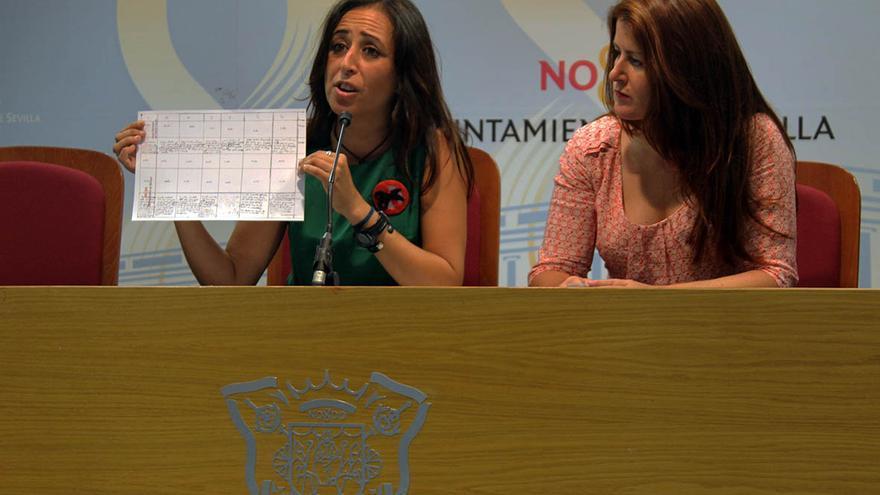 Las concejales de Participa Sevilla, Cristina Honorato y Susana Serrano. / J.M.B.