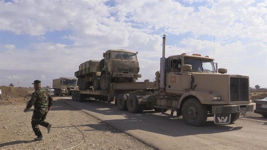 Mueren 50 yihadistas en combates con las fuerzas iraquíes al sur y oeste de Mosul