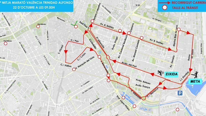 Plano del recorrido del Medio Maratón