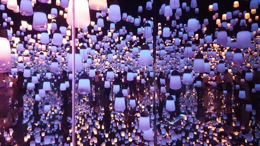 La sala de las lámparas de colores