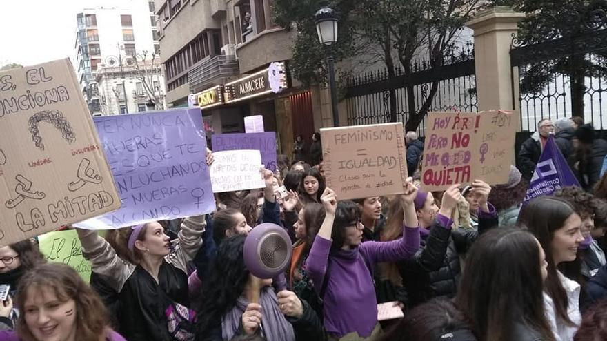 Manifestación del 8M en Albacete en 2018