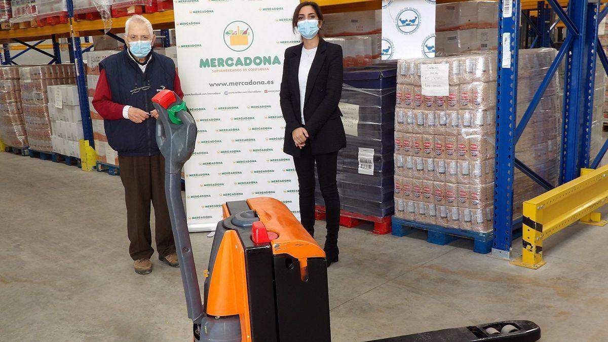 Donación de Mercadona al Banco de Alimentos.