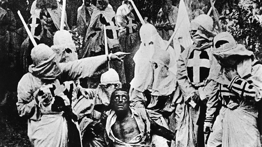 Fotograma de 'El nacimiento de una nación' (1915), de D.W. Griffith
