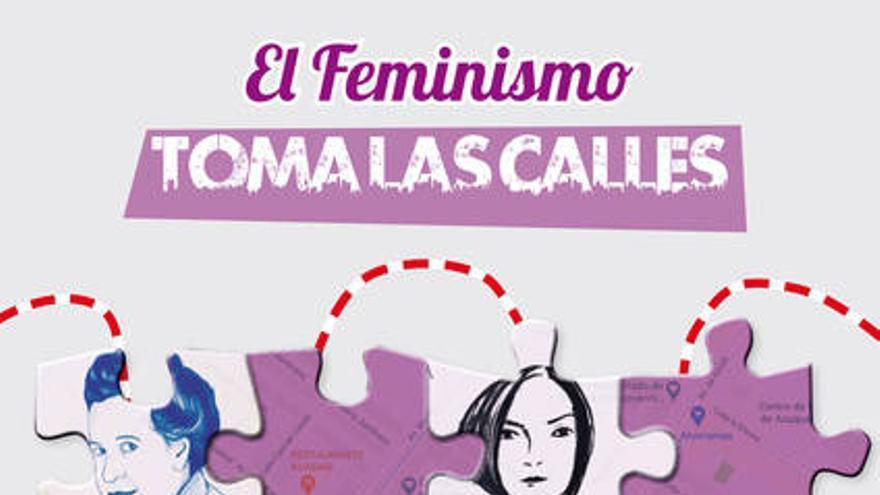 Portada del folleto 'El feminismo toma las calles'