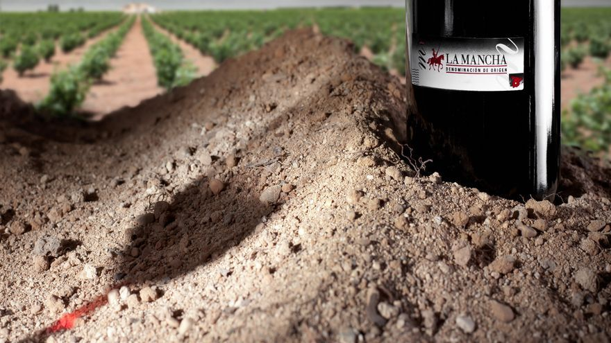 Etiqueta de los vinos de La Mancha