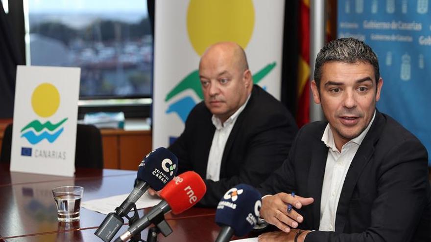 El consejero de Agricultura del Gobierno de Canarias, Narvay Quintero, en la presentación de la campaña de difusión que se pondrá en marcha para la promoción del logo RUP