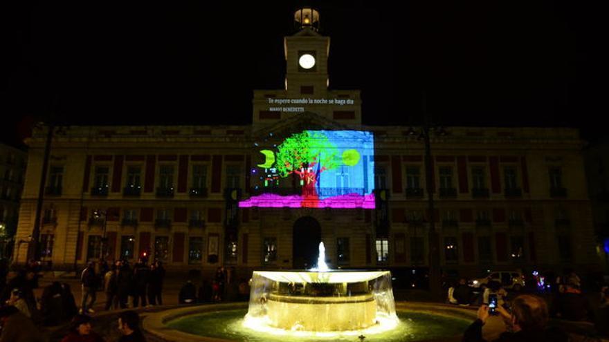 Poemas Láser en Madrid/ Foto de La Noche de los Libros